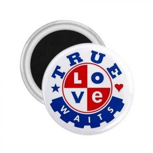 Purity chastity True Love Can Wait 2.25 inch Magnet Locker Refrigerator 26994648