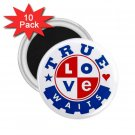 Purity chastity True Love Can Wait 10 pack of 2.25 inch Magnets Locker Party favors 26994652