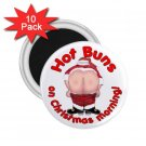 Funny HOT BUNS Santa Holidays 10 pack of 2.25 inch Magnets Locker Party favors 26994669