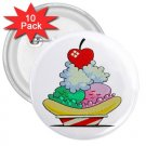 CARTOON ICECREAM SUNDAE 10 pack of 3 inch pinback buttons backpack pins 26994703
