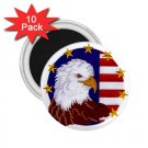 AMERICAN Flag Bald Eagle 10 pack of 2.25 inch Magnets Locker Party favors 27008587