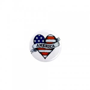 COUNTRY AMERICA  pinback 1 inch  button backpack pin 27008590