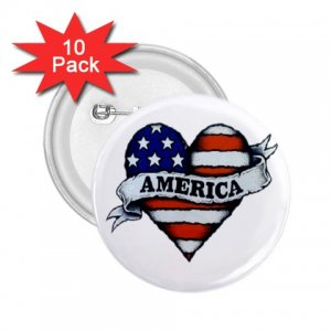 10 pack of 2.25 inch pinback buttons COUNTRY AMERICAN backpack pins 27008595