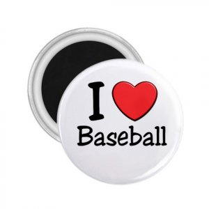 Magnets I LOVE BASEBALL 2.25 inch Locker Refrigerator 27018079