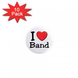 I LOVE BAND 10 pack of 1 inch pinback buttons backpack pins 27018072