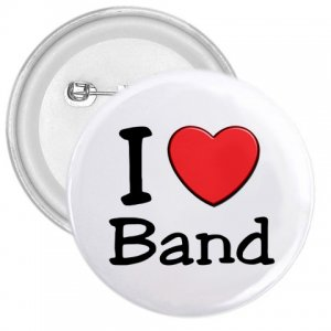 3 inch I LOVE BAND pinback button backpack pin 27018071