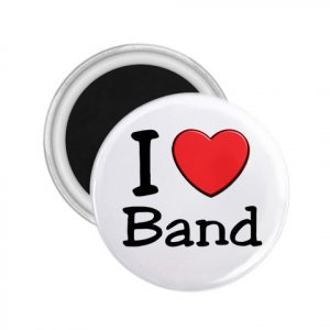Magnets I LOVE BAND 2.25 inch Locker Refrigerator 27018070