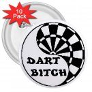10 pack of 3 inch Funny Darts pinback buttons backpack pins 27027638