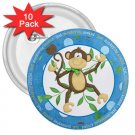 10 pack of 3 inch CUTE MONKEY pinback buttons backpack pins 27087964