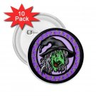buttons HALLOWEEN WITCH 10 pack of 2.25 inch pinback backpack pin 27087974