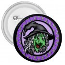 3 inch HALLOWEEN WITCH pinback button backpack pin 27087971