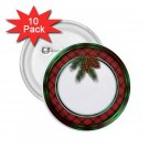 buttons CHRISTMAS HOLIDAY WREATH 10 pack of 2.25 inch pinback NAME pin 27088226
