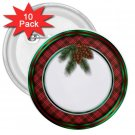 10 pack of 3 inch CHRISTMAS HOLIDAY WREATH pinback buttons NAME pins 27088227