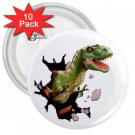10 pack of 3 inch DINOSAUR T-REX PARTY favor pinback buttons backpack pins 27088254