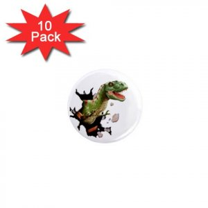 DINOSAUR T-REX LOCKER Magnets 10 pack of 1 inch button magnets decoration 27088252