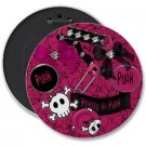 PINK PUNK ROCK COLOSSAL button pinback 6 inch backpack pin