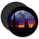 SUNSET SCENE COLOSSAL button pinback 6 inch backpack pin