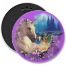 UNICORN FAIRY COLOSSAL button pinback 6 inch backpack pin