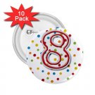 Name Pins AGE 8 PARTY favors 10 pack of 2.25 inch pinback BACKPACK pin 27120657