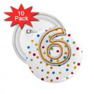 Name Pins AGE 6 PARTY favors 10 pack of 2.25 inch pinback BACKPACK pin 27120665