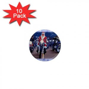 SANTA ON A HARLEY HOG LOCKER Magnets 10 pack of 1 inch button magnets decoration 27183951