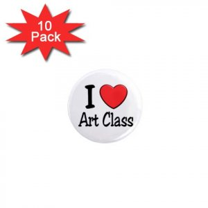 I LOVE ART CLASS 10 pack of 1 inch pinback buttons backpack pins 27018064