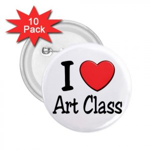 buttons I LOVE ART CLASS 10 pack of 2.25 inch pinback backpack pin 27018065