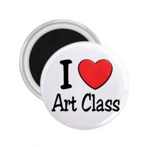 Magnets I LOVE ART CLASS 2.25 inch Locker Refrigerator 27018062
