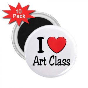 10 pack of 2.25 inch Magnets I LOVE ART CLASS Locker Party favors 27018066