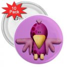 10 pack of 3 inch FUNNY PURPLE BIRD pinback buttons backpack pins 27280505
