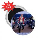 SANTA ON A HARLEY HOG 10 pack of 2.25 inch Magnets Locker Party favors 27183953