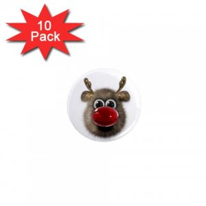 RUDOLPH HOLIDAY REINDEER  Magnets 10 pack of 1 inch button magnets decoration 27280520