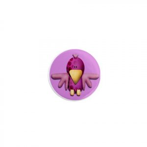 SINGLE Purple Bird Magnet 1 inch button Locker magnets