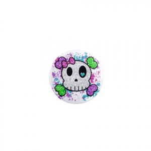 SINGLE Colorful Skull Magnet 1 inch button Locker magnets