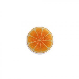 SINGLE Orange Slice Magnet 1 inch button Locker magnets
