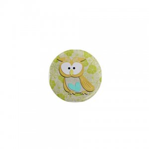 SINGLE Cute Owl Magnet 1 inch button Locker magnets