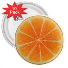 10 pack of 3 inch ORANGE SLICE Design pinback buttons backpack pins 27280582