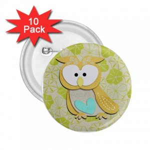 buttons Retro Owl Design 10 pack of 2.25 inch pinback backpack pin 27280590