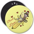 Sock Monkey Banana Love COLOSSAL button pinback 6 inch backpack pin