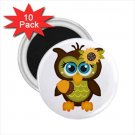 Owl Design 10 pack of 2.25 inch Magnets Locker Party favors 27280600