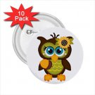 buttons Owl Design 10 pack of 2.25 inch pinback backpack pin 52623951