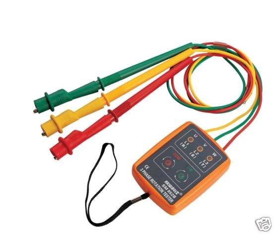3 Phase Rotation Tester Indicator Detector Meter