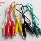 "50pcs Alligator Test Clip line 5 colors 46cm(18"" )"