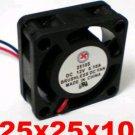 1pc DC Cooling Fan 5V , 12V or 24V 0.1A 25mm x 25 mmx10mm 2pin 2510