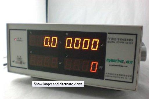 PF9800 Electrical Power Analyzer Input Voltage: 220VAC