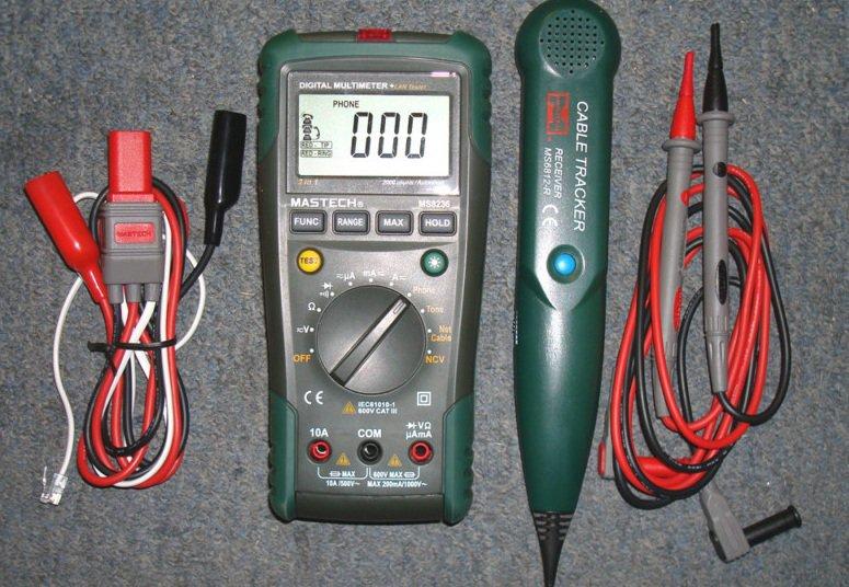 Digital Multimeter + Network cable tester MS8236