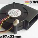 DC Cooling Blower Fan 97mm x97mmx33mm 5V 12V 24V 3Wire