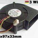 DC Cooling Blower Fan 97mm x97mmx33mm 5V 12V 24V 3Wire