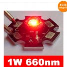 5 pcs High Power LED Lamp Red Color Light 1 Watt 660nm good for growth