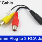 1pc Audio Video Joint Adapter Cable 2.5mm Male Plug to 3 RCA Jack Female